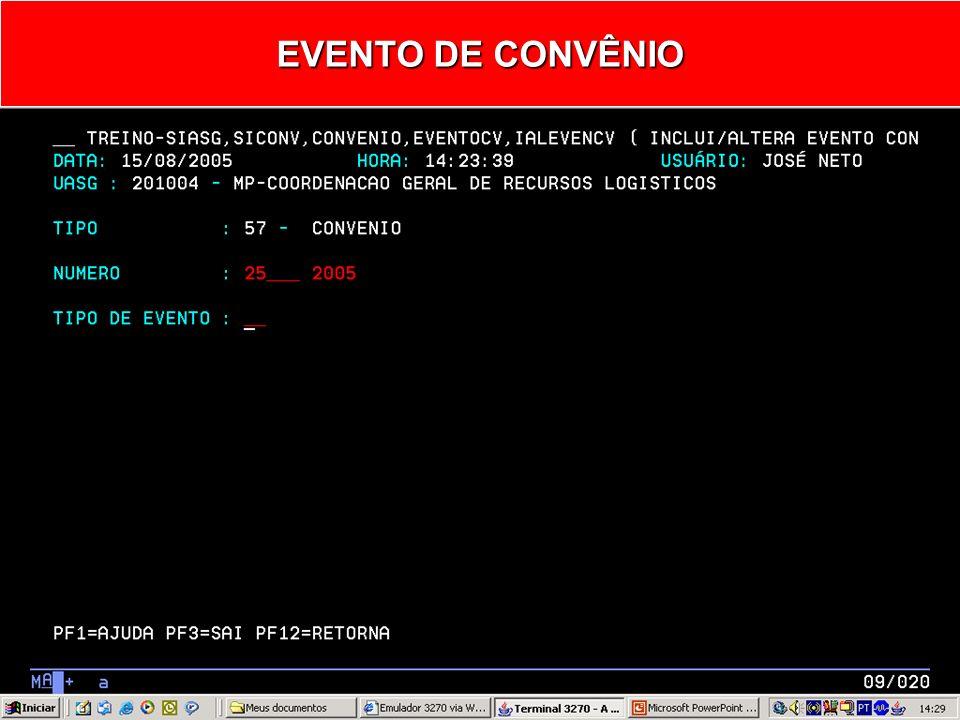 EVENTO DE CONVÊNIO