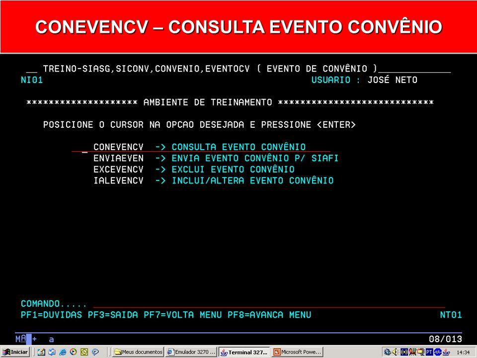 EVENTOCV – EVENTO DE CONVÊNIO