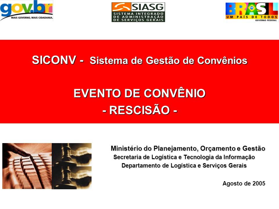 Consultar a exclusão do evento EXCLUI EVENTO DE CONVÊNIO