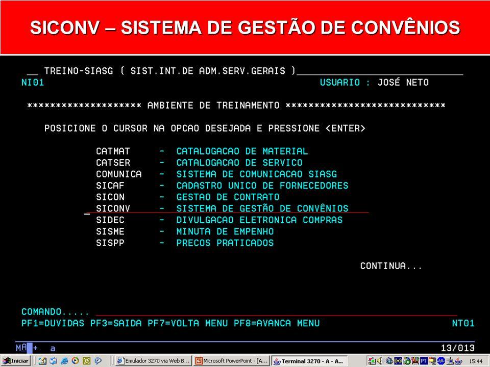 Ministério do Planejamento, Orçamento e Gestão Secretaria de Logística e Tecnologia da Informação Departamento de Logística e Serviços Gerais Agosto de 2005 SICONV - Sistema de Gestão de Convênios EVENTO DE CONVÊNIO - ANULAÇÃO -
