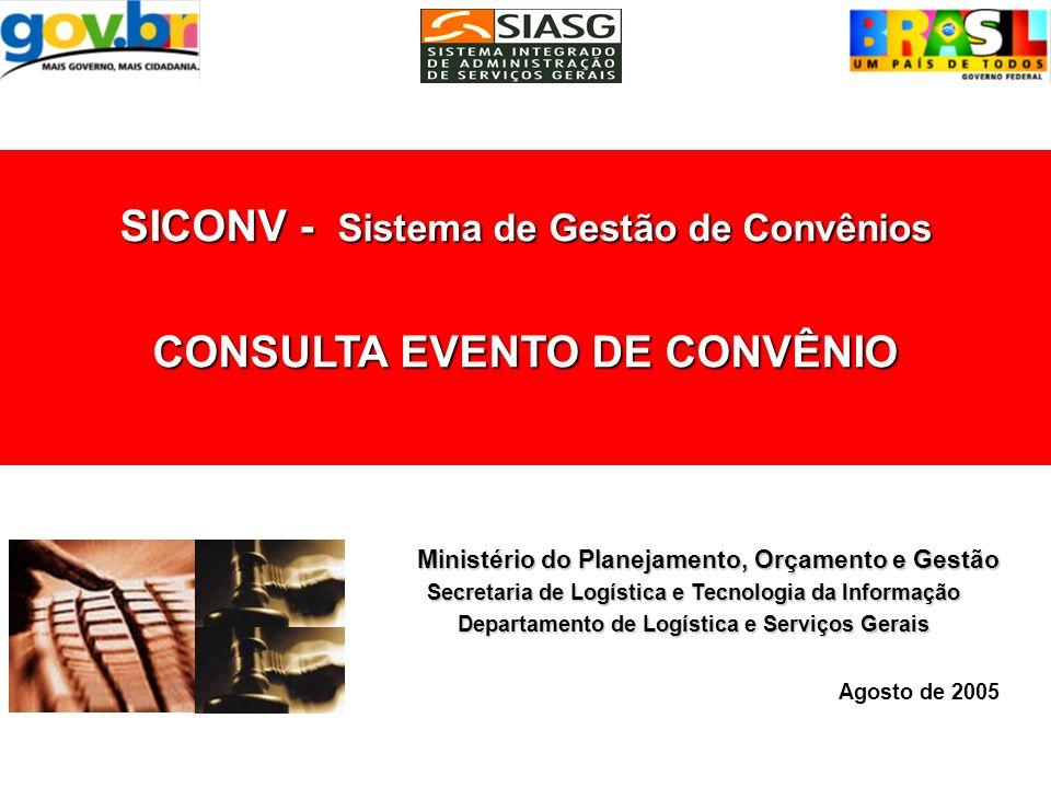 Consultar o Evento de Anulação do convênio do convênio