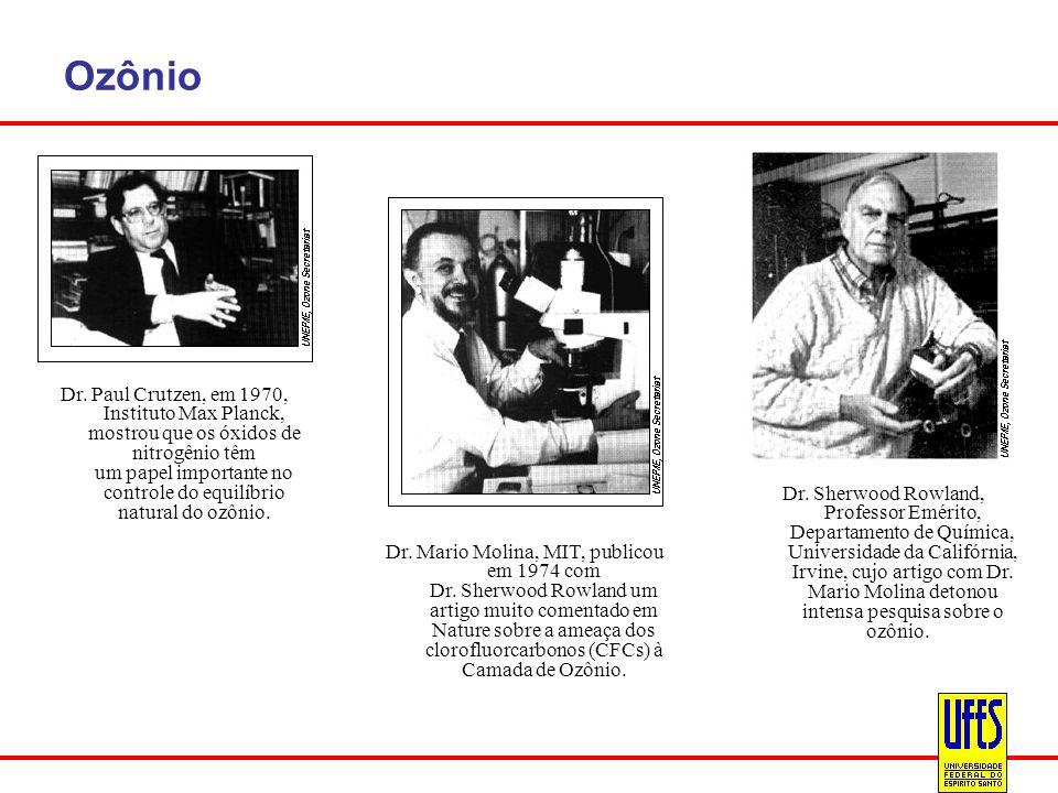Ozônio Dr. Paul Crutzen, em 1970, Instituto Max Planck, mostrou que os óxidos de nitrogênio têm um papel importante no controle do equilíbrio natural