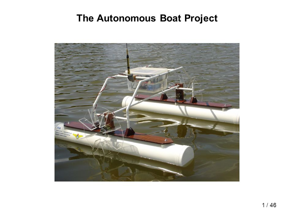 42 / 46 Vídeo do Barco VídeoVídeo do resultado da navegação autônoma do barco no lago do ITA