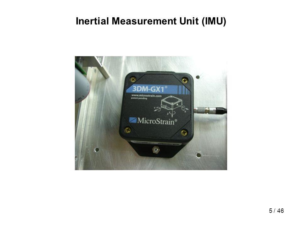 5 / 46 Inertial Measurement Unit (IMU)