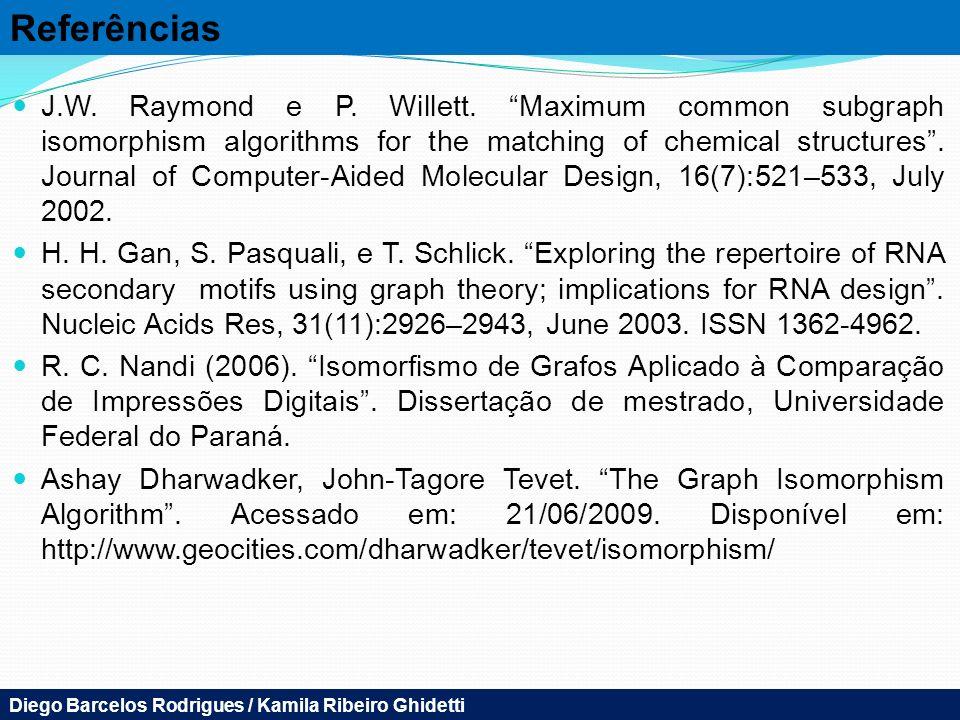 Referências J.W.Raymond e P. Willett.