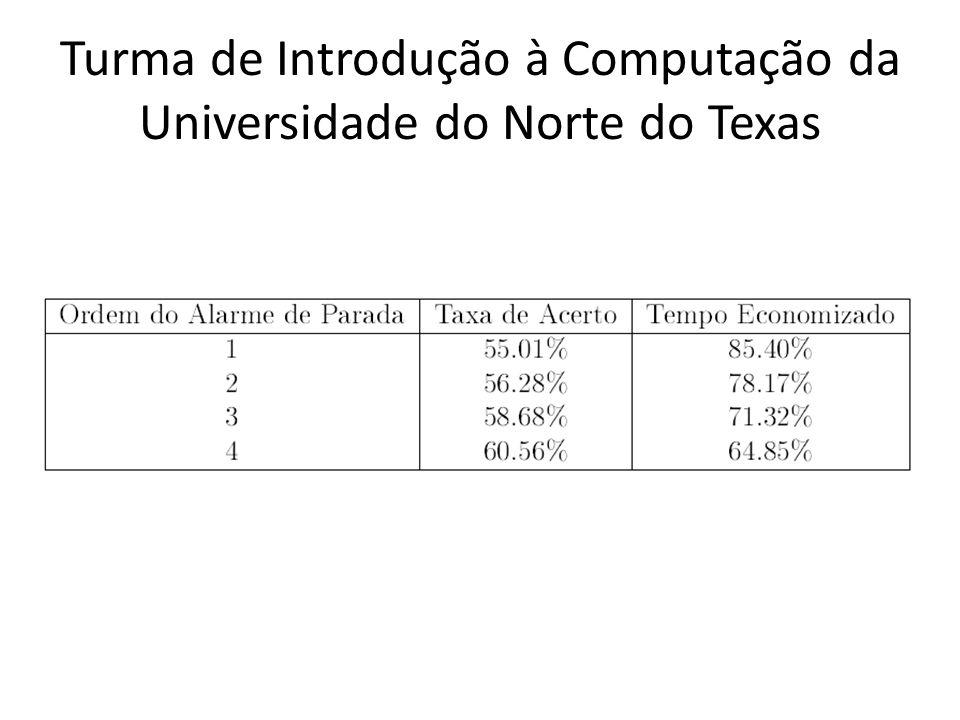 Turma de Introdução à Computação da Universidade do Norte do Texas