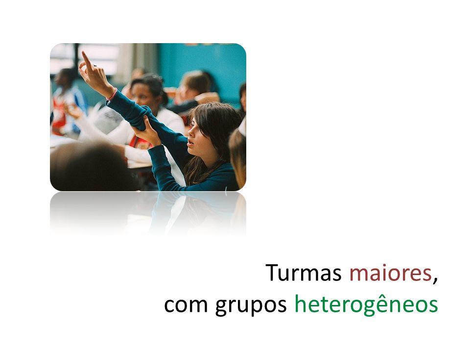 Turmas maiores, com grupos heterogêneos