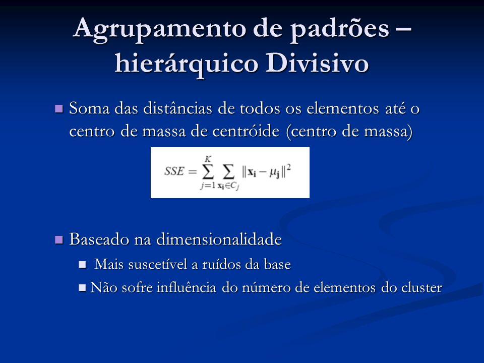 Soma das distâncias de todos os elementos até o centro de massa de centróide (centro de massa) Soma das distâncias de todos os elementos até o centro