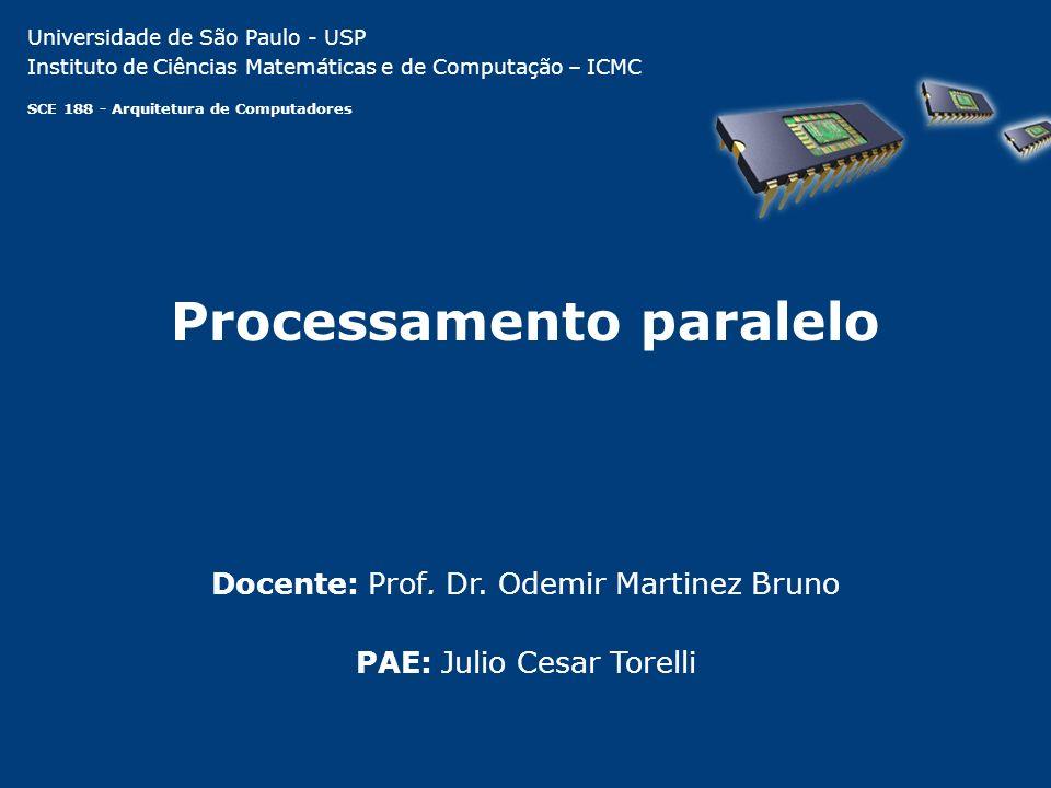 Processamento paralelo PAE: Julio Cesar Torelli Docente: Prof.