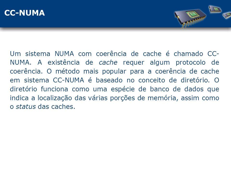 CC-NUMA Um sistema NUMA com coerência de cache é chamado CC- NUMA.