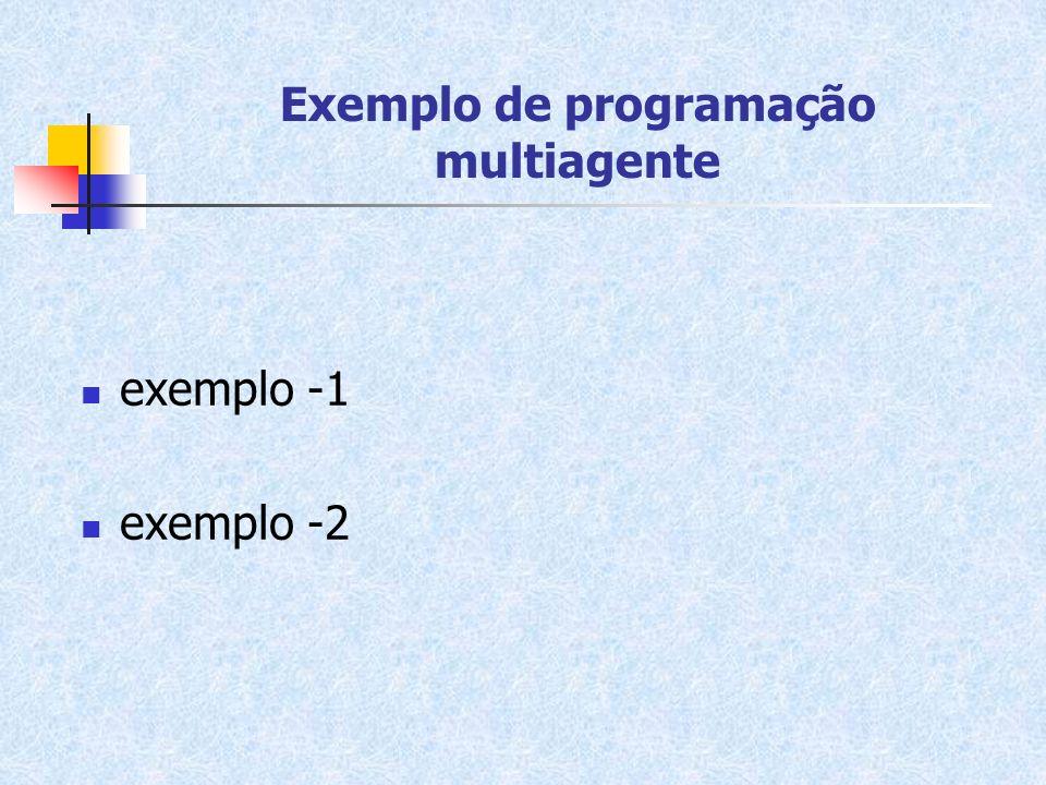 Exemplo de programação multiagente exemplo -1 exemplo -2