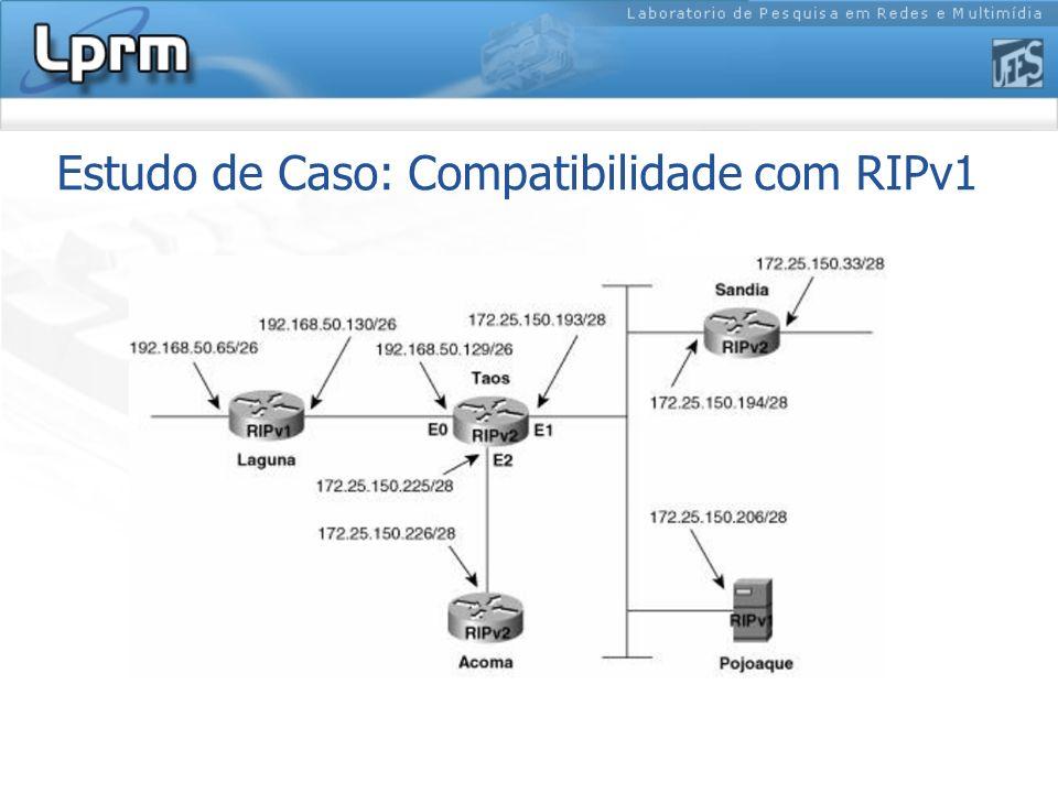 Estudo de Caso: Compatibilidade com RIPv1