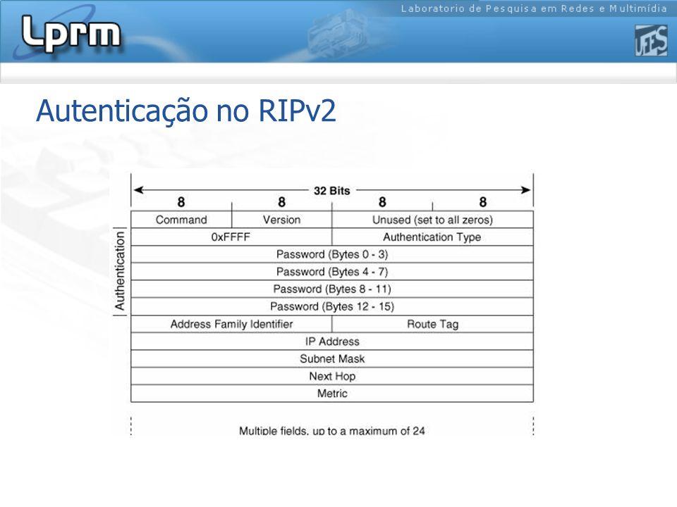 Autenticação no RIPv2