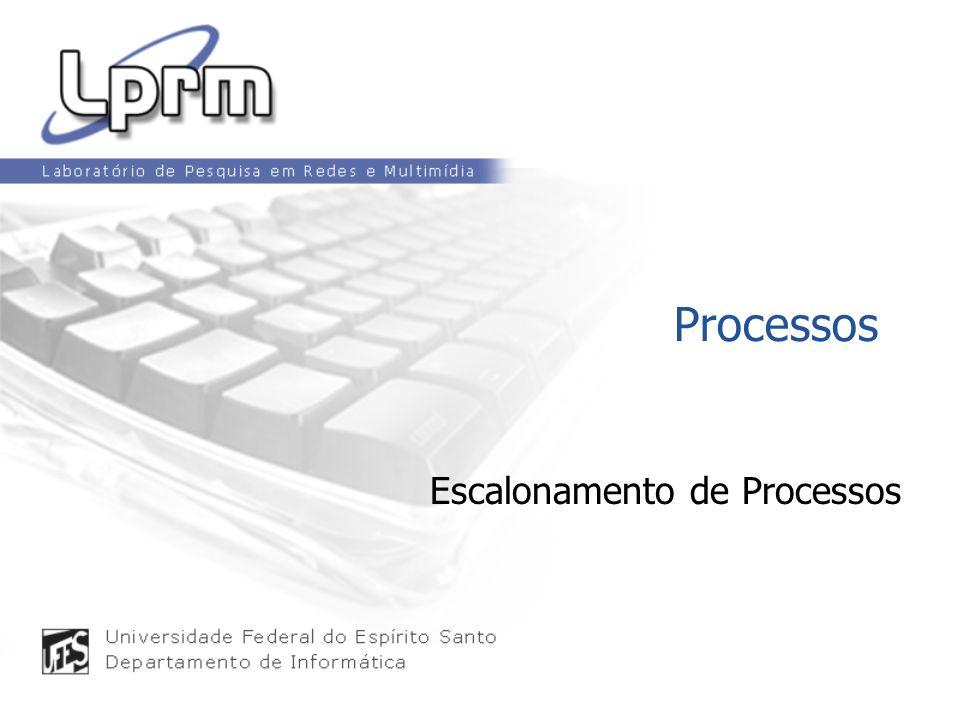 Processos Escalonamento de Processos