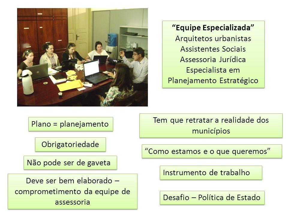 Equipe Especializada Arquitetos urbanistas Assistentes Sociais Assessoria Jurídica Especialista em Planejamento Estratégico Equipe Especializada Arqui