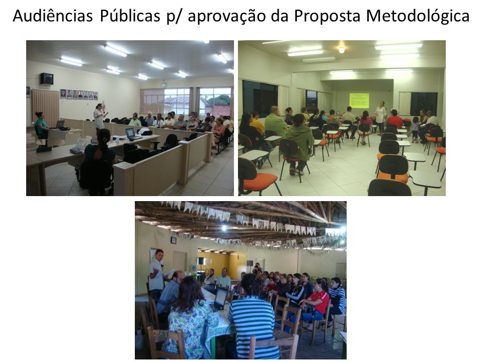 Audiências Públicas p/ aprovação da Proposta Metodológica