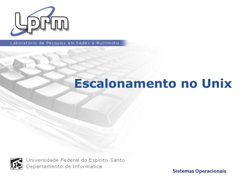 Escalonamento no Unix Sistemas Operacionais