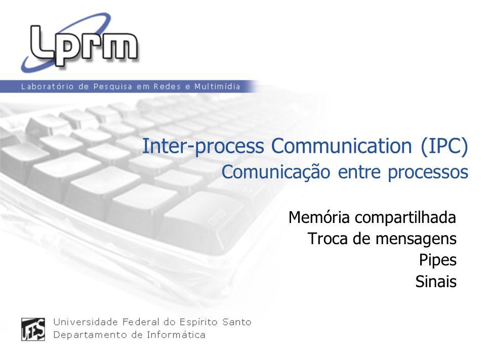 Memória compartilhada Troca de mensagens Pipes Sinais Inter-process Communication (IPC) Comunicação entre processos