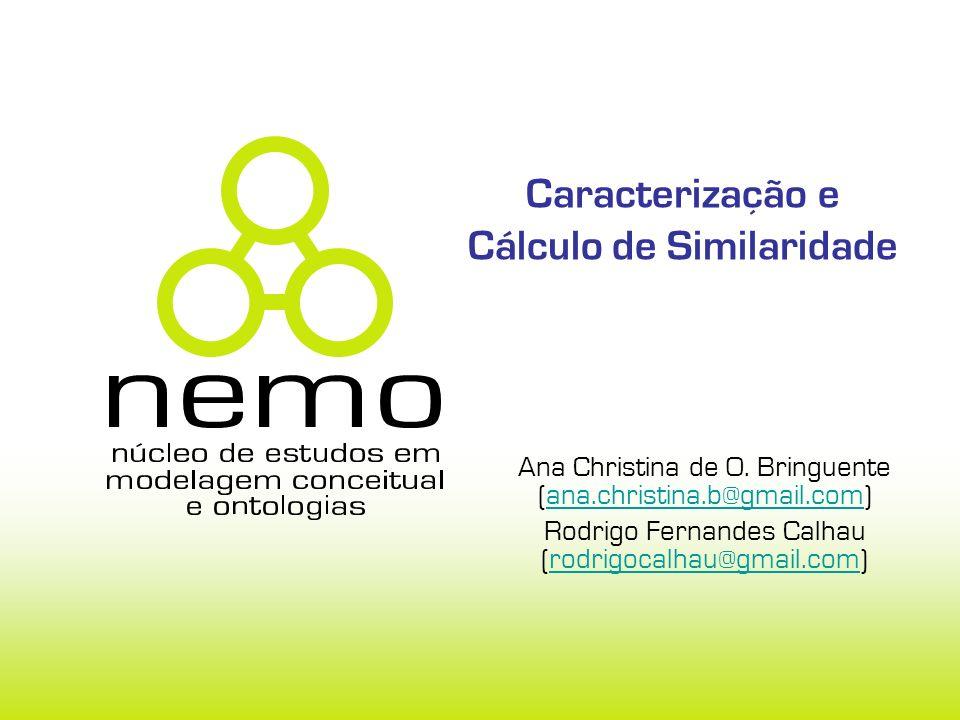 Caracterização e Cálculo de Similaridade Ana Christina de O.