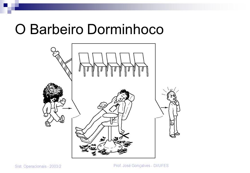 Prof. José Gonçalves - DI/UFES Sist. Operacionais - 2003/2 O Barbeiro Dorminhoco