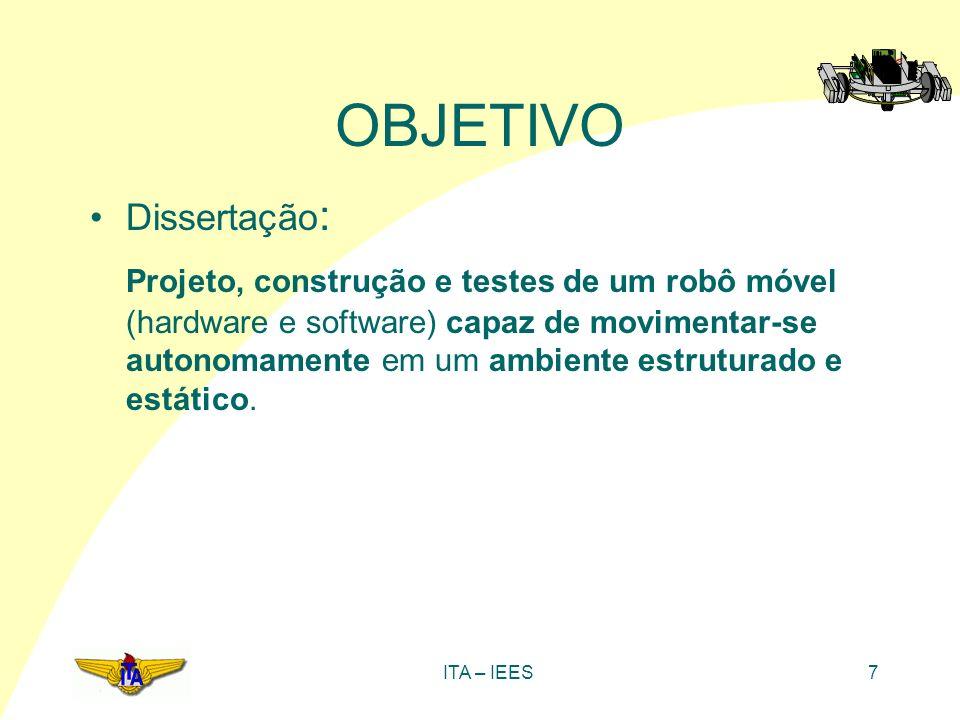 ITA – IEES7 Dissertação : Projeto, construção e testes de um robô móvel (hardware e software) capaz de movimentar-se autonomamente em um ambiente estr