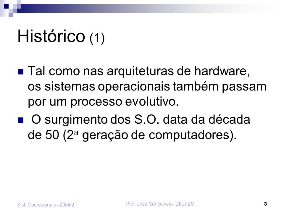 Prof.José Gonçalves - DI/UFES 4 Sist.