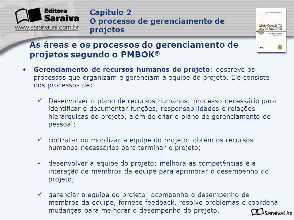 Capa da Obra Gerenciamento de recursos humanos do projeto: descreve os processos que organizam e gerenciam a equipe do projeto. Ele consiste nos proce