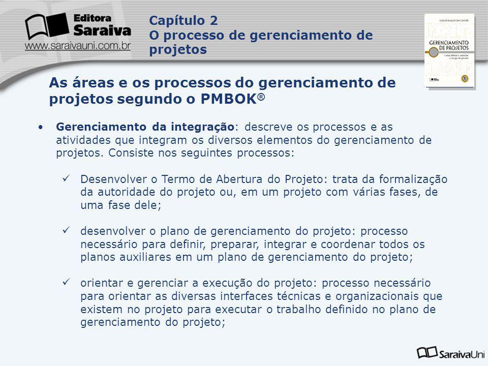 Capa da Obra Gerenciamento da integração: descreve os processos e as atividades que integram os diversos elementos do gerenciamento de projetos. Consi