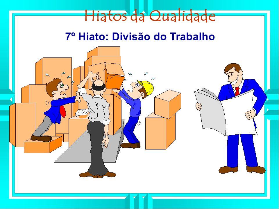 7º Hiato: Divisão do Trabalho Hiatos da Qualidade