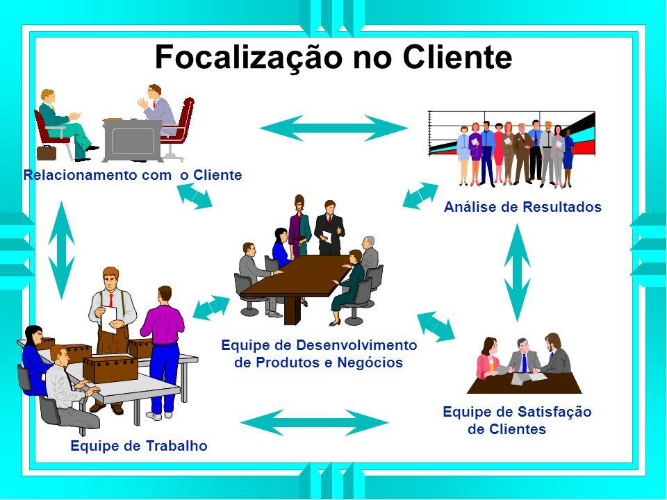 Focalização no Cliente Análise de Resultados Equipe de Satisfação de Clientes Equipe de Trabalho Relacionamento com o Cliente Equipe de Desenvolvimento de Produtos e Negócios