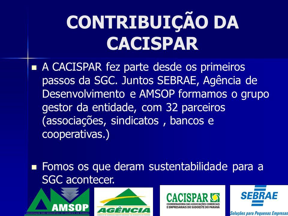 A CACISPAR e a Agência de desenvolvimento fizeram a divulgação da idéia em 16 municípios, reunindo mais de 850 empresários, dito como Chamada pública para o apóio da Implantação da SGC, que na seqüência foi realizado um diagnóstico para avaliar a realidade econômica dos empresários.