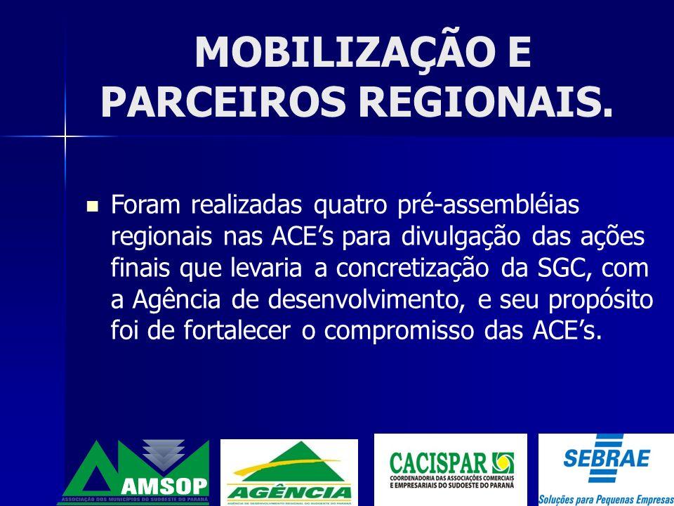 Dois Vizinhos Francisco Beltrão Pato Branco Coronel Vivida Na seqüência todos os municípios onde existem PACs do SICOOB Aos poucos atender todo o Sudoeste do Paraná.