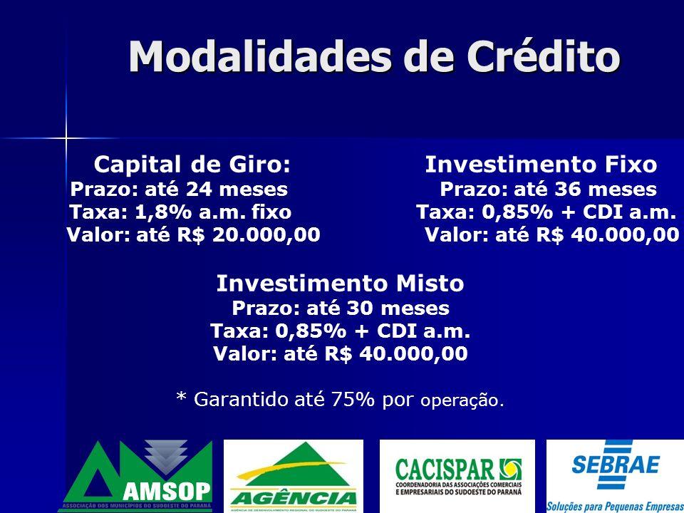 Objetivos Proporcionar condições de acesso ao crédito, através da concessão do certificado de garantia junto aos agentes financeiros.
