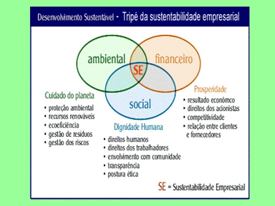 O desenvolvimento sustentável não é um estado permanente de equilíbrio, mas sim de mudanças quanto ao acesso aos recursos e quanto à distribuição de custos e de benefícios.