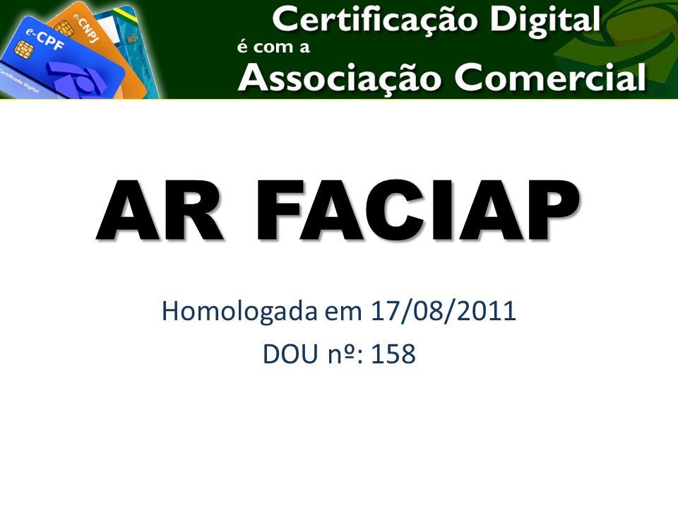 AR FACIAP Homologada em 17/08/2011 DOU nº: 158