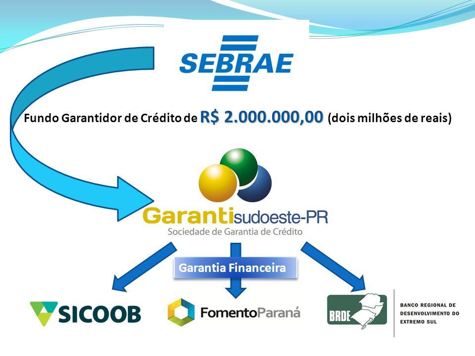 R$ 2.000.000,00 Fundo Garantidor de Crédito de R$ 2.000.000,00 (dois milhões de reais) Garantia Financeira