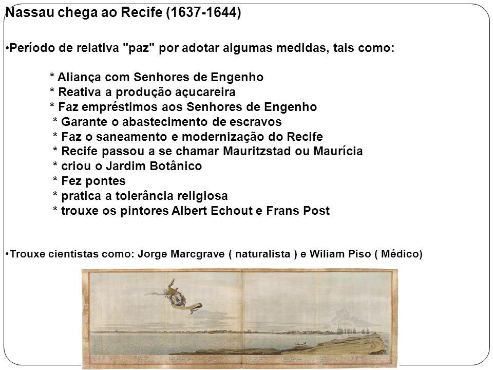 Nassau chega ao Recife (1637-1644) Período de relativa