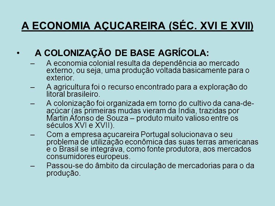 FATORES DA DECADÊNCIA DO AÇÚCAR: Intensificação dos movimentos bandeirantes em busca de metais.