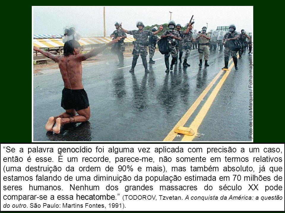 (Foto de Lula Marques / Folha imagem / 2000) genocídio hecatombe Se a palavra genocídio foi alguma vez aplicada com precisão a um caso, então é esse.