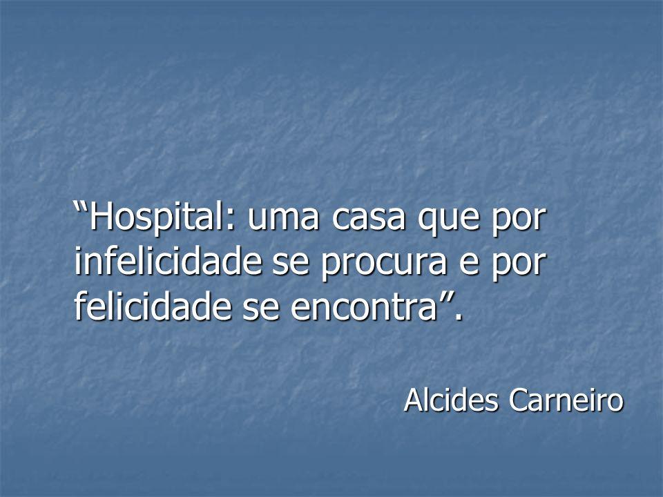 Hospital: uma casa que por infelicidade se procura e por felicidade se encontra. Alcides Carneiro