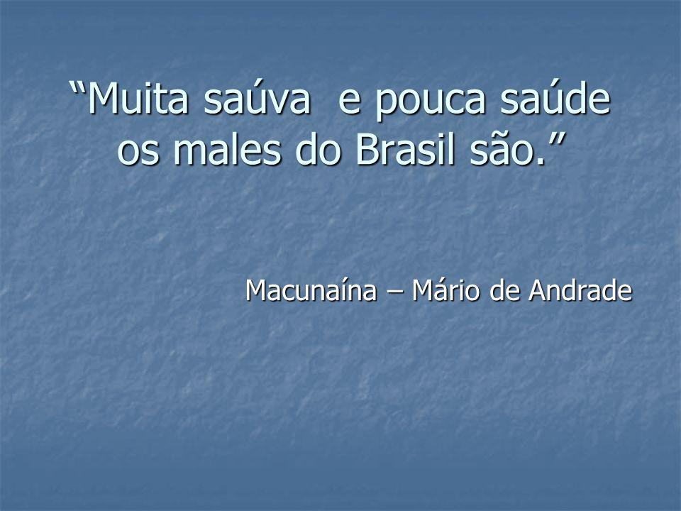 Muita saúva e pouca saúde os males do Brasil são. Macunaína – Mário de Andrade