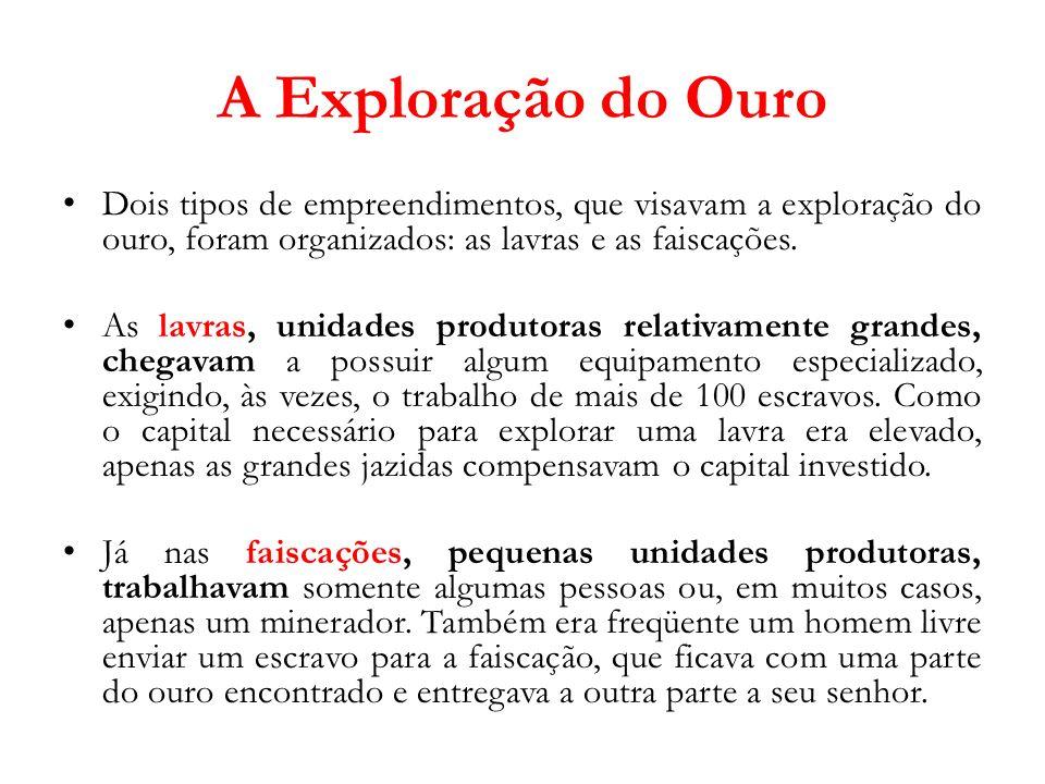 A Administração da Área Mineradora Logo que descobriram as primeiras jazidas em Minas Gerais, a Coroa publicou o Regimento das Minas (1702).