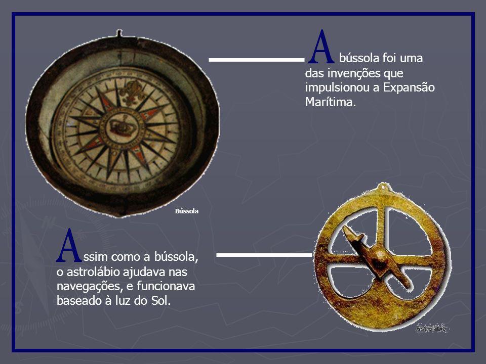 Instrumentos de navegação Quadrante BalestilhaAstrolábio Bússola