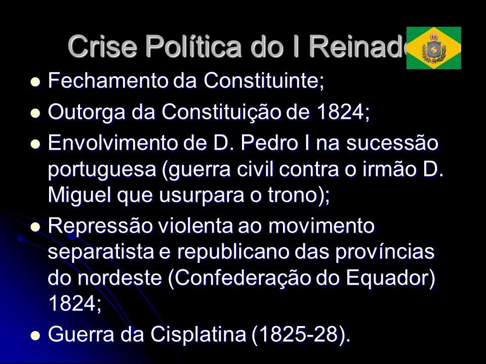 Crise Política do I Reinado Fechamento da Constituinte; Fechamento da Constituinte; Outorga da Constituição de 1824; Outorga da Constituição de 1824;