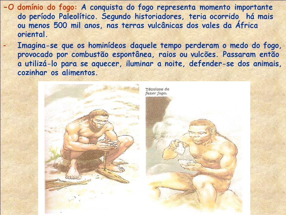 -Os homens do paleolítico também foram excelentes artistas.