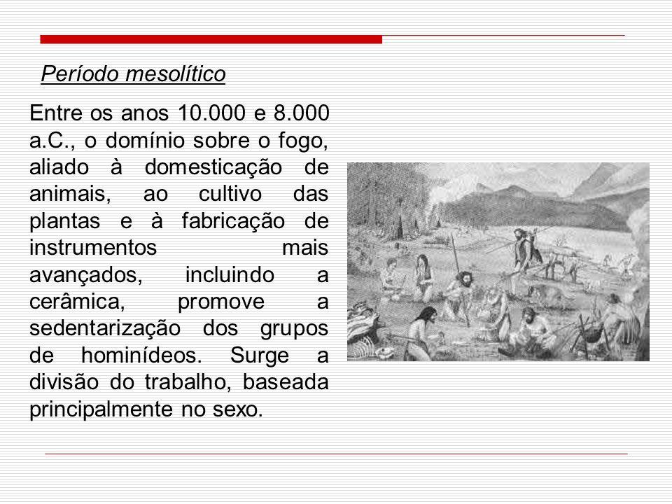 - O domínio do fogo: A conquista do fogo representa momento importante do período Paleolítico.