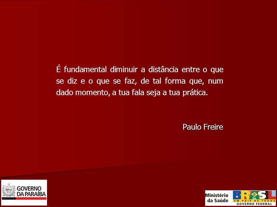 É fundamental diminuir a distância entre o que se diz e o que se faz, de tal forma que, num dado momento, a tua fala seja a tua prática. Paulo Freire