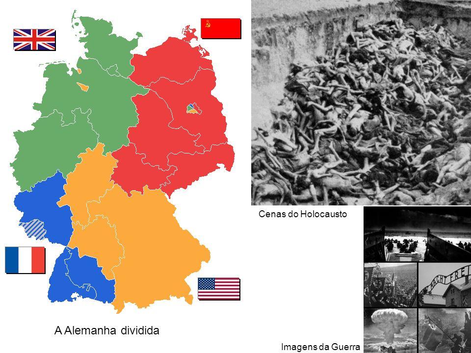 A Alemanha dividida Cenas do Holocausto Imagens da Guerra