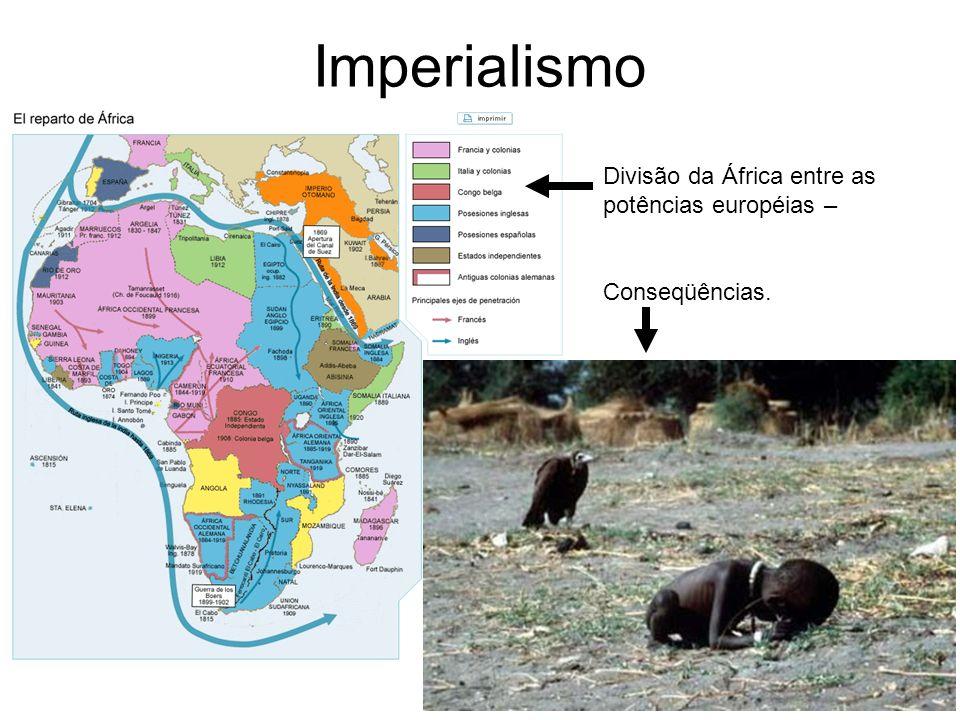 Imperialismo Divisão da África entre as potências européias – Conseqüências.
