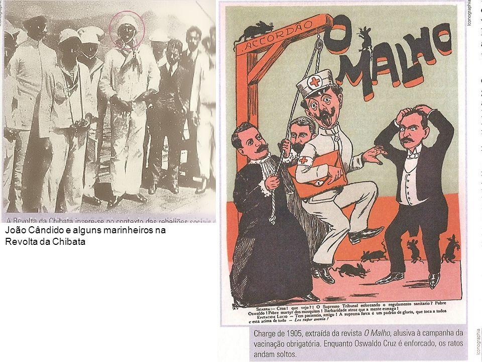 João Cândido e alguns marinheiros na Revolta da Chibata